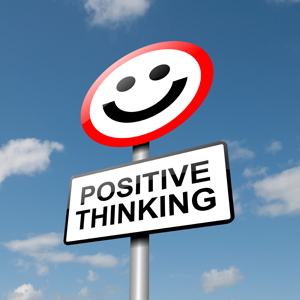 Positive Thinking with smiley